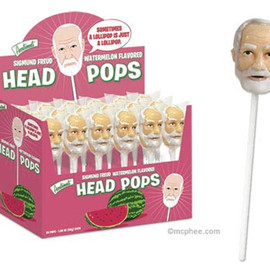 Sigmund Freud Head Lollipop