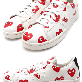 PLAY COMME des GARCONS x CONVERSE - Heart Print Pro Leather Low