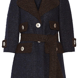 MARC JACOBS - FW2015 Two-tone llama and wool-blend coat