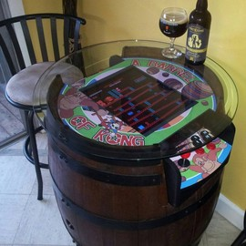 griffindodd - CUSTOM DONKEY KONG WINE BARREL TABLETOP ARCADE 'A BARREL OF KONG'