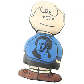 Peanuts - Schroeder Stuffed Doll Pillow Beethoven 60's Vintage