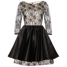 Alice + Olivia - KATELIN LACE OVERLAID DRESS