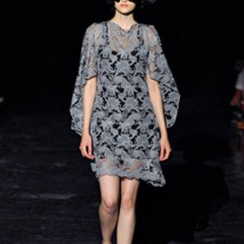 JUNYA WATANABE COMME des GARCONS - 12ss Embroidered tulle dress