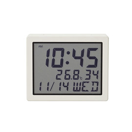 MUJI - MUJI Digital Alarm Clock with Light, Calendar and Temperature