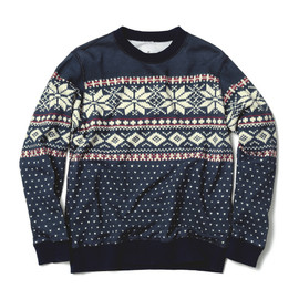 uniform experiment  - NORDIC PRINT CREW NECK SWEAT