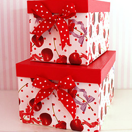 Cerise - Hat Box ドットチェリーBOX