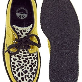 Underground - Wulfrun Suede and Leopard Creepers/yellow