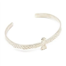 Chibi Jewels - Sterling Silver Native Bird Cuff Bracelet