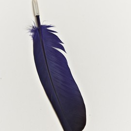 ANN DEMEULEMEESTER - BLUE FEATHER PIN