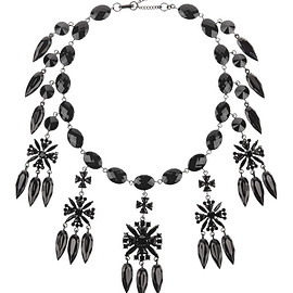 GIVENCHY - FW2015 Necklace in gunmetal-tone and crysta