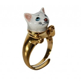 nache - Adjustable ring gray cat