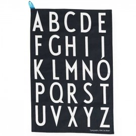 design letters - Tea Towles Black