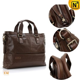 CWMALLS - Genuine Leather Business Bags Brown CW913108 - cwmalls.com