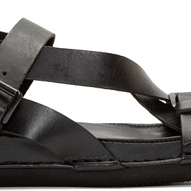 Ann Demeulemeester - Black Buckle Strap Sandals