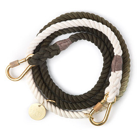 Found My Animal - Olive Ombre Rope Dog Leash, Adjustable