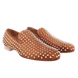 "Christian Louboutin - ""Rollerboy"" spiked suede loafers"