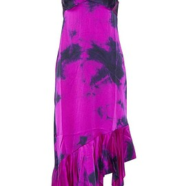 Marques' Almeida - Tie-dyed asymmetric silk-satin dress