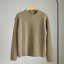 AURALEE - SUPER FINE WOOL RIB KNIT BIG P/O #beige