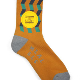 MY LOADS ARE LIGHT - Zigzag Sox (orange)