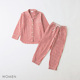 GOOD NIGHT SUIT - Women's Long Seersucker Stripe Pajama