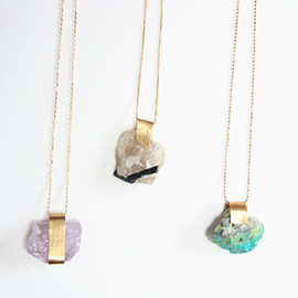 Rustic rock - Mineral Necklaces