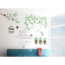 wallstickerdeal.com - A Psalm of Life Birds with Branches Wall Sticker