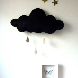 leptitpapillon - THE Big Black Rain cloud with Gold raindrops by The Butter Flying