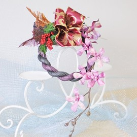 Edelweiss - Japanese new year's wreath!!