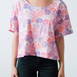 leahgoren - Watercolor Floral Tee
