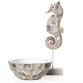 Z Gallerie - Mosaic Shell Seahorse & Bowl