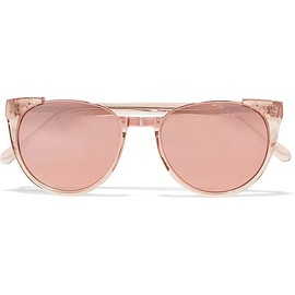 Linda Farrow - Cat-eye acetate and rose gold-tone mirrored sunglasses
