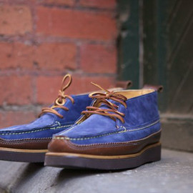 Yuketen - Yuketen Dress Chukka   D. Blue