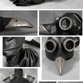"TomBanwell - Steampunk Plague Doctor Mask in black ""Ichabod"""