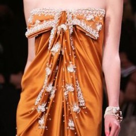 Christian Dior - orange dress