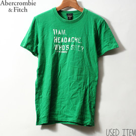 Abercrombie & Fitch - 掠れレタリング Tシャツ