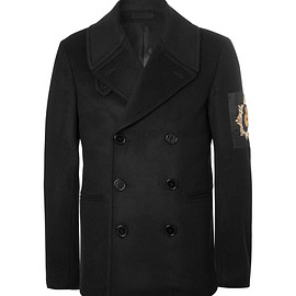 Alexander McQueen - Double-Breasted Embellished Wool and Cashmere-Blend Peacoat