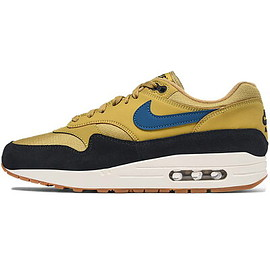 NIKE - NIKEナイキAIRMAX1エアマックスワンメンズスニーカーGOLDENMOSS/BLUEFORCE/BLACKゴールデンモス/ブルーフォース/ブラックAH8145-302【海外展開日本未入荷】