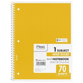 Mead - Spiral Notebook 1-Subject 70-Count