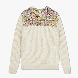Berluti - Hand-Made Wool Sweater With Leather Details, OFF WHITE,
