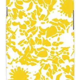 SECOND SKIN - kion 「flower yellow」 / for GALAXY S III SC-06D/docomo