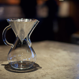 Chemex & Coava - Chemex 6cup Glass Handle & Coava KONE COFFEE FILTER