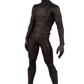 MEDICOM TOY - RAH No.317 BLACK SUITED SPIDER-MAN(SPIDER-MAN3 Ver.)