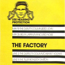 Factory Records Poster Designed By Peter Saville