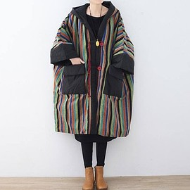 Winter coat - Cotton oversized Winter clothes, Comfortable maternity padded coat, Long Hooded cloak coat