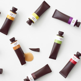 nendo - creates flavor-filled chocolate paint tubes for seibu