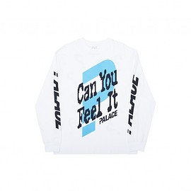 Palace Skateboards - CAN YOU FEEL IT L/S T-SHIRT WHITE