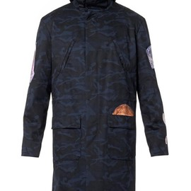RAF SIMONS, STERLING RUBY - World-print camouflage canvas parka