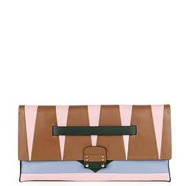 VALENTINO - Mime colourblock leather clutch