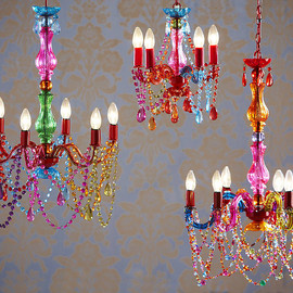 THE CONTEMPORARY HOME - Multi Coloured Ornate Chandelier