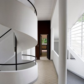 Le Corbusier - Stairs, Villa Savoye, Poissy, France